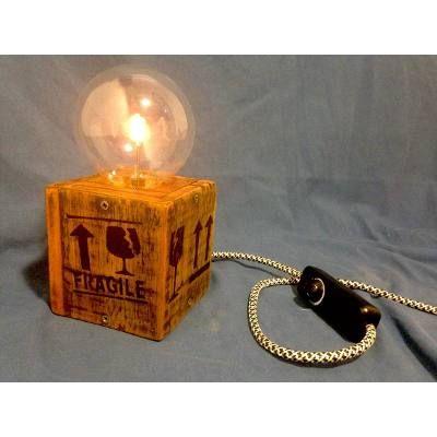 Lámpara Vintage Madera Reciclada - Dimerizable - 100% Diseño - $ 800,00 en MercadoLibre