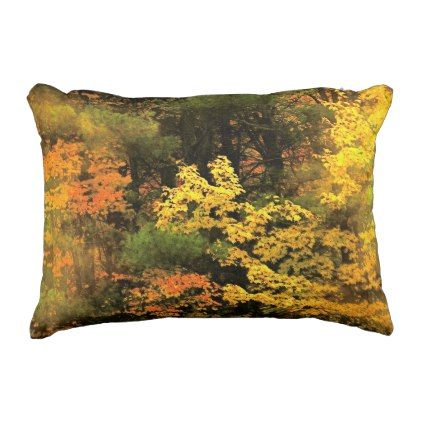 Artsy Fall Foliage Autumn Outdoor Pillow
