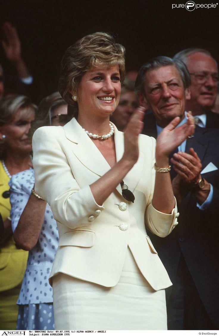 Diana à Wimbledon en juillet 1995