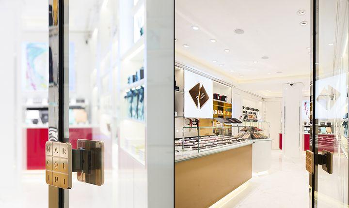 Роскошный дизайн магазина шоколада Пьера Марколини