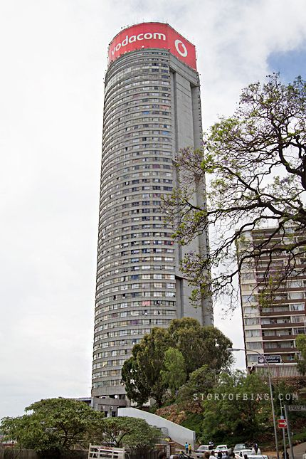 Ponte City is a skyscraper in the Hillbrow neighbourhood of Johannesburg, South Africa. built in 1975. The 54-story building is cylindrical, with an open center allowing additional light into the apartments. During the late 1980s, gang activity had caused the crime rate to soar at the tower and the surrounding neighbourhood.[2] By the 1990s, after the end of apartheid, many gangs moved into the building and it became extremely unsafe. Ponte City became symbolic of the crime and urban decay