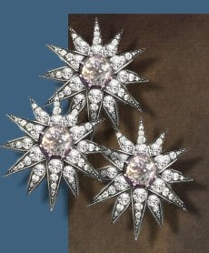 Diamond stars for the hair, belonging to Sisi Empress Elisabeth of Austria (due to the movie also known now as Sissi, 1837-1898)