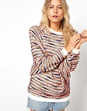 ASOS Top in Multi Color Texture with Batwing.  It looks like a rug, but in sweater form, therefore I love it.