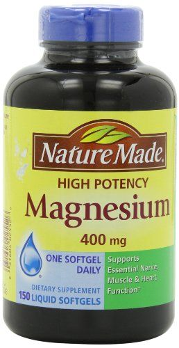 Nature Made High Potency Magnesium 400 mg - 150 Liquid Softgels -- Read more at the image link.