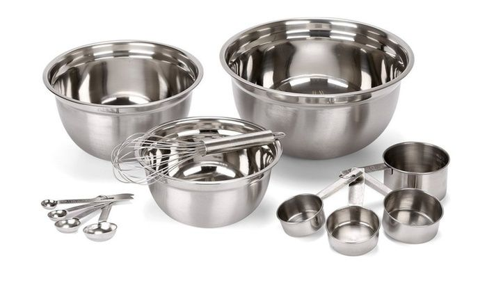 Estilo Stainless Steel Mixing Bowl Set 12 Piece Stainless Steel Mixing Bowls Stainless Steel Measuring Cups Mixing Bowls