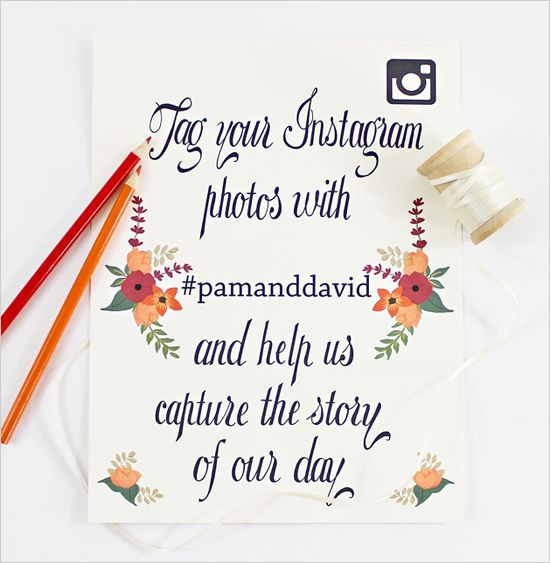 summer instagram free printable http://www.weddingchicks.com/2013/10/10/instagram-wedding-signs/