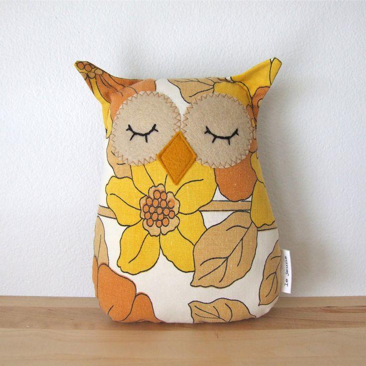 Citrine and mustard owl