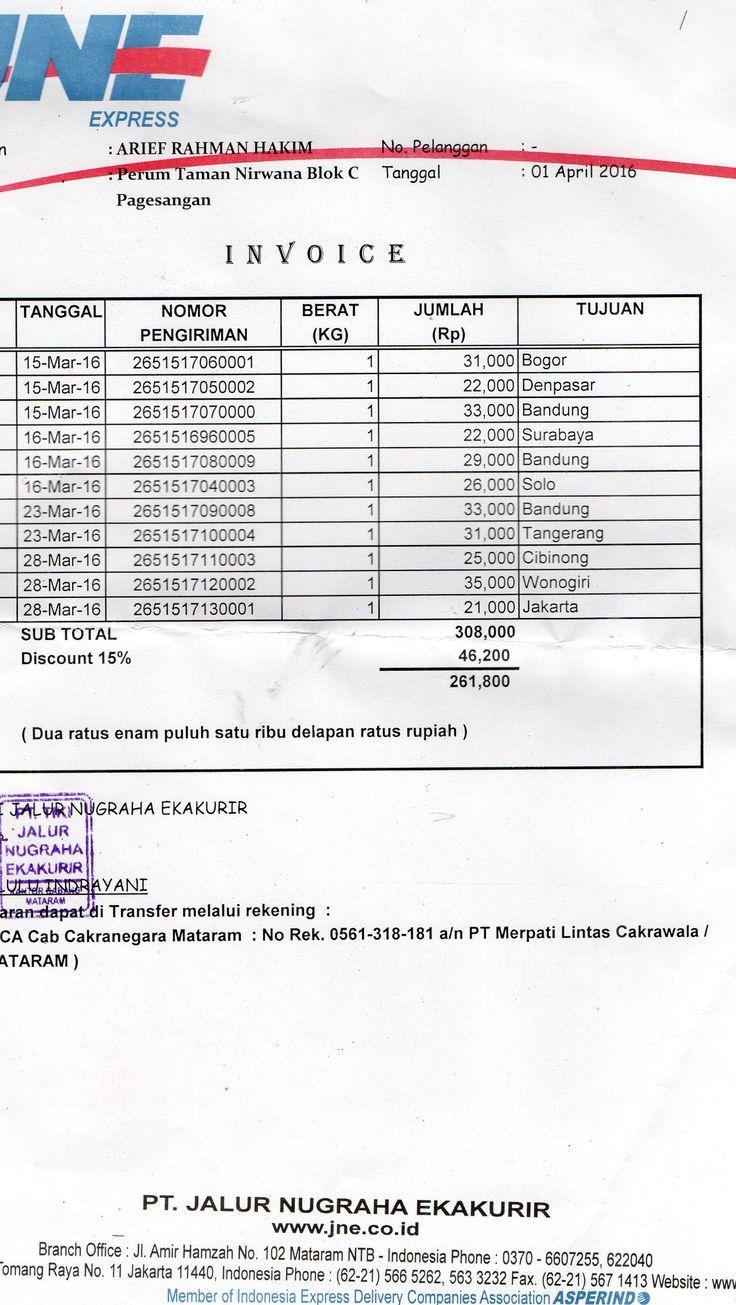 Database Nomor Resi Pengiriman Order Toko Online Original Mutiara Untuk Periode Bulan maret 2016