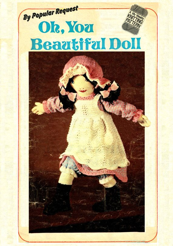 PDF Tall Victorian style Rag Doll & Doll Clothes Knitting