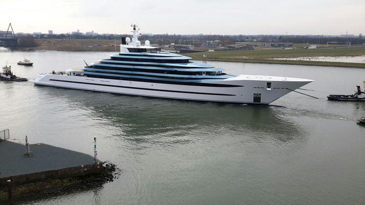 Oceanco laat haar grootste jacht ooit te water in Alblasserdam (foto's) - Alblasserdamsnieuws.nl