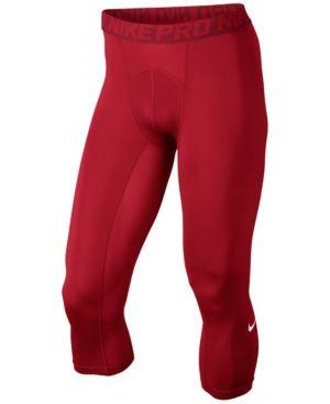 Nike Men's Pro Cool Dri-fit 3/4 Compression Leggings - Red 2XL