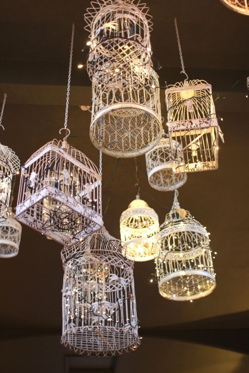 diy birdcage light - Google Search