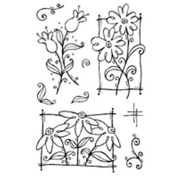 Woodware Clear Magic Stamps: Flower Doodles, Woodware, Woodware Clear Magic Stamps Flower Doodles, £9.99, In2crafting - Wickford Hobbies and Craft Ltd
