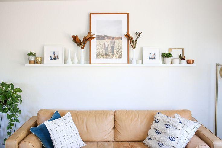 How To Style A Photo Ledge With Framebridge -- Chelsea-Bird.com