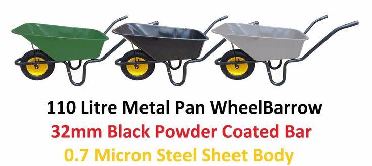 110l metal pan #heavy duty wheel#barrow 110 litre garden #equestrian wheel #barrow,  View more on the LINK: http://www.zeppy.io/product/gb/2/222281263004/
