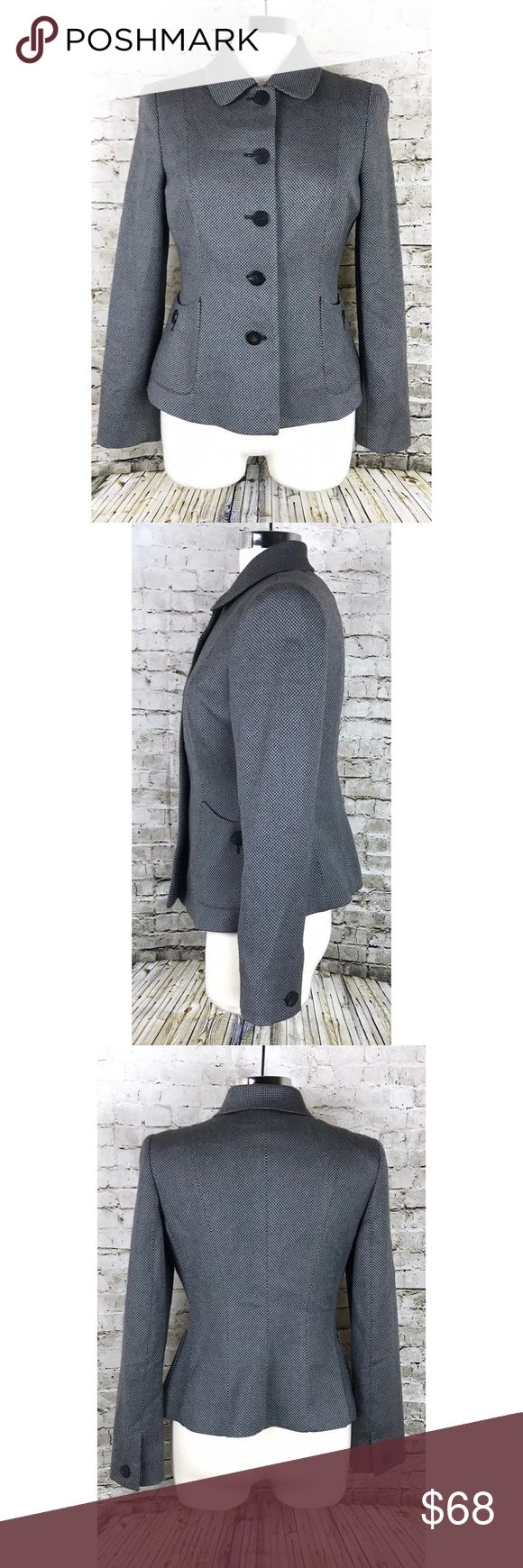 """Armani Collezioni Jacket Armani Collezioni Jacket. Button down jacket with button hip pockets and button cuffs.  Brown/Grey. Excellent conditions, no care tags. Measurements laying flat: 18.5"""" chest, approx 22.5"""" length. Armani Collezioni Jackets & Coats"""