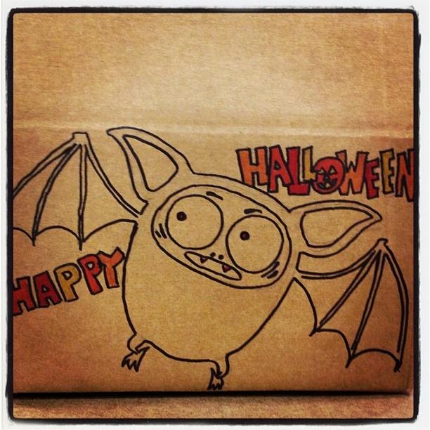 Halloween bat for Andrea!Pk Stuff, Halloween Bats