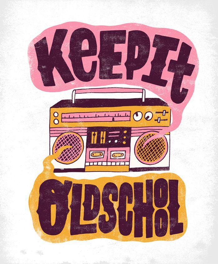 4/16: Keep It Old School by Jay Roeder, freelance illustration, hand lettering & design