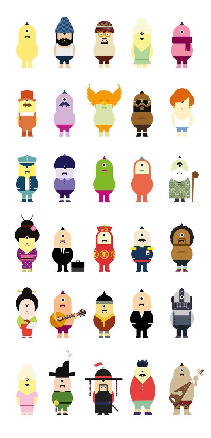 DOKAEBEE : Korean monster identity, character design on Behance