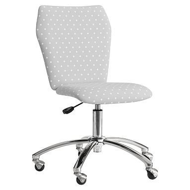 Simple Elegant Printed Airgo Armless Chair Gray Dot Plan - Model Of armless office chairs Photo