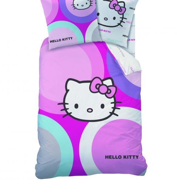 Kids HELLO KITTY Bedding 100% COTTON Duvet Cover & Pillow Case SET UK Single #CTIZoneIndustrielleFrance #Childrens