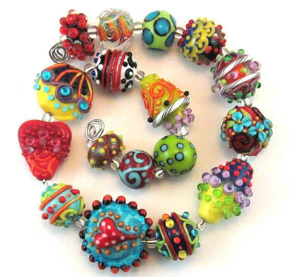 day assortment bead set chestnut ridge critchfield lampwork beadsglass