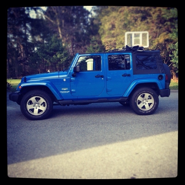 Cosmos blue jeep wrangler unlimited... It will be mine soon!!