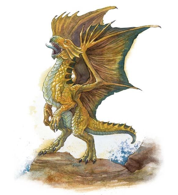 A bronze dragon wyrmling  Bronze dragons mated for life, and