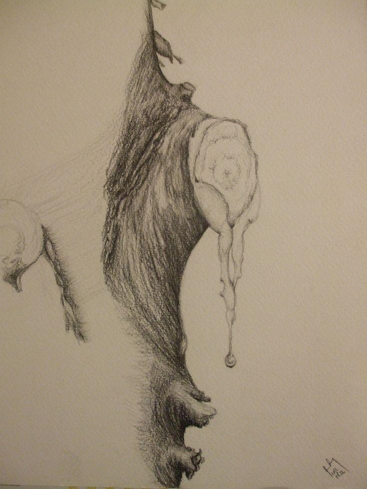 Gyanta csepp, A4 ceruza rajz