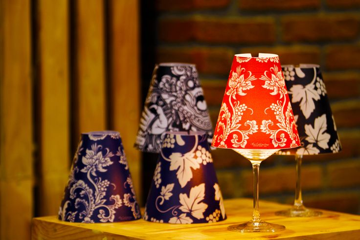 wine glass lanterns.  Signature wine accessories of Hatten Wines, Bali.  Find them at The Cellardoor, wine lifestyle boutique.