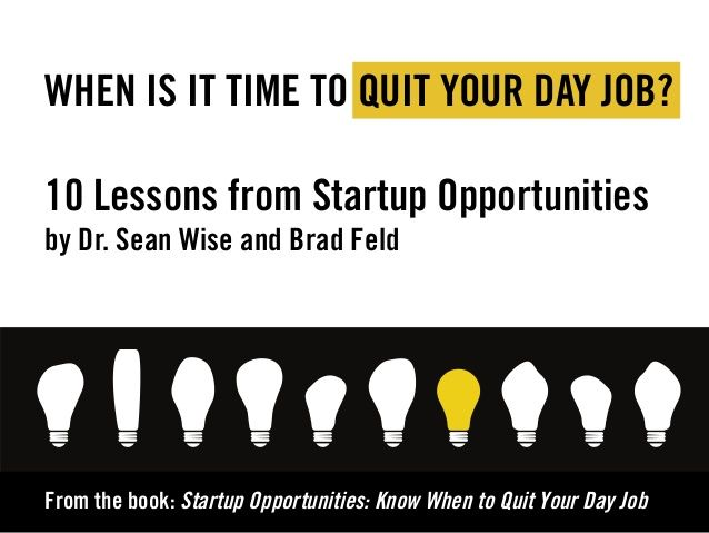 Startup Opportunities by Sean Wise & Brad Feld