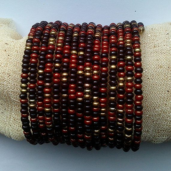 Hey, I found this really awesome Etsy listing at https://www.etsy.com/ru/listing/222844711/bead-bracelet-dark-brown-red-brown-and