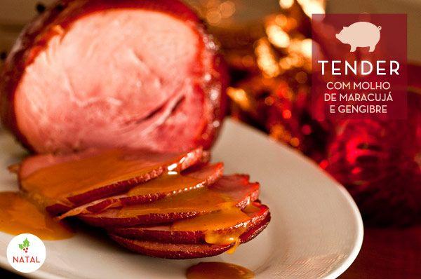 Receita de Tender com molho de maracujá e gengibre - Ceia de Natal ( Receita: Dedo de Moça | Foto: Carol Milano )