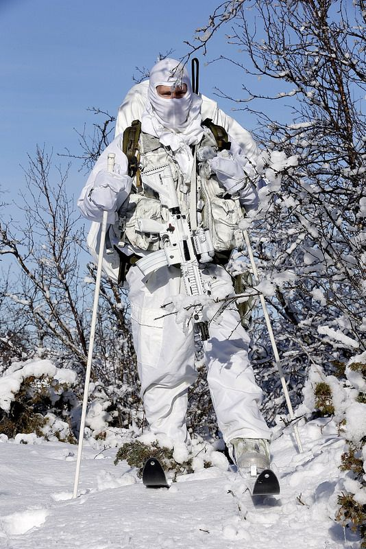 Norwegian Kystjegerkommandoen (Coastal Ranger Command) during the NATO winter warfare exercise Cold Response 2014. March 16, 2014.