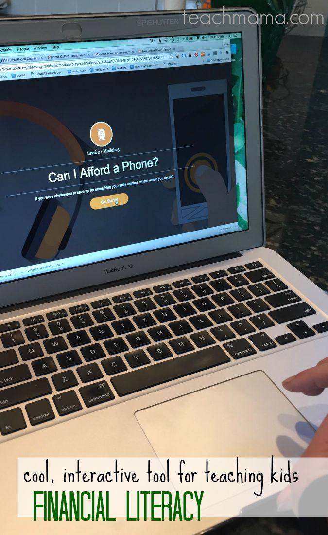 cool, interactive tool for teaching kids financial literacy teachmama.com | Earn Your Future Digital Lab 8