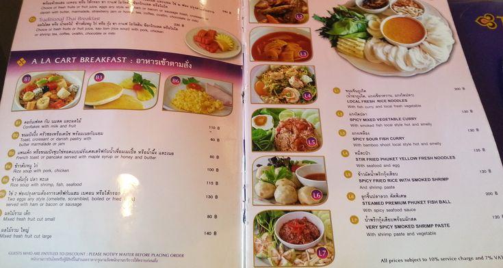 Image result for thai airline menu
