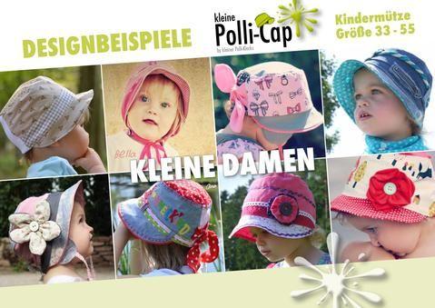 """eBook - """"Polli-Cap"""" - Mütze - Kinder nähen - Schnittmuster - Schlapphut, Schiebermütze, Kappe, Sonnenhut, Cappi, Anglerhut, Haube, Schirmmütze - Kleiner Polli-Klecks"""