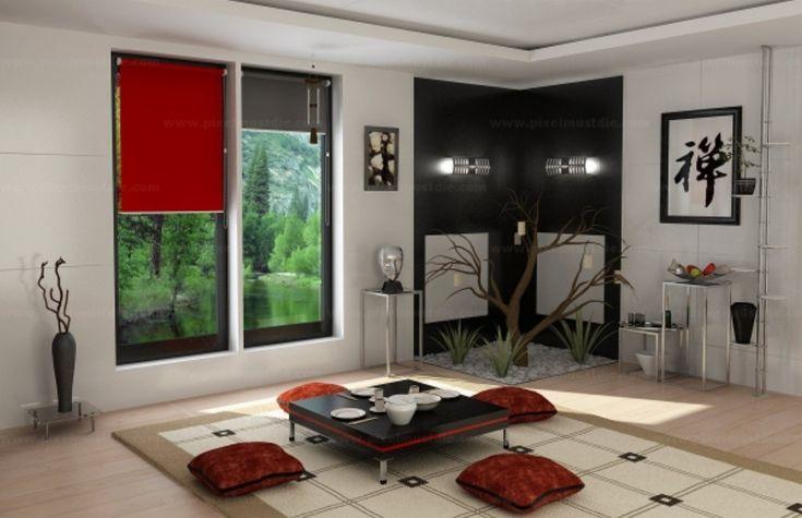 Интерьер комнаты в китайском стиле