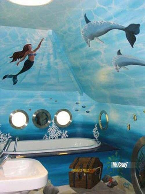 Image Of Little Mermaid Bathroom Decor