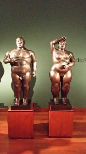 Adan y Eva según Botero.
