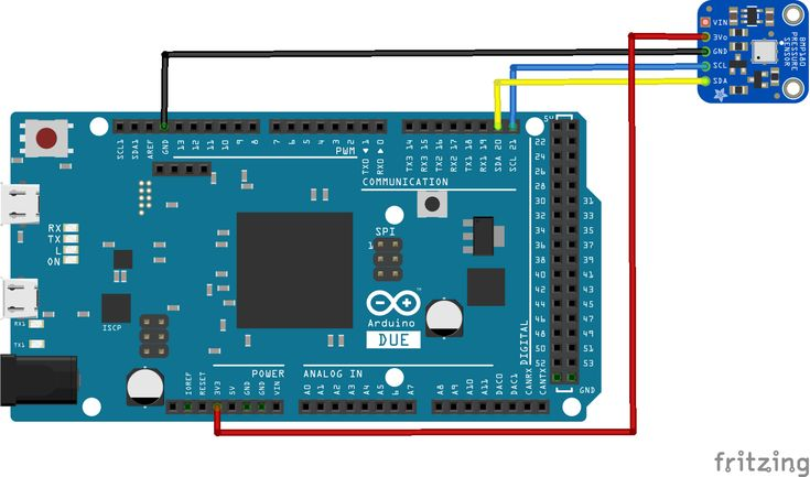 Arduino Due and BMP180 sensor example #arduino