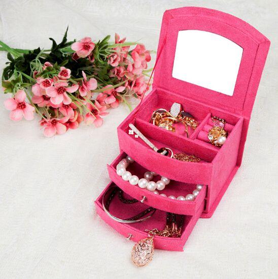2014 Модные подарки на день рождения футляры коробке с принадлежностями кольца ожерелья серьги хранения ювелирных изделий коробки бесплатная доставка