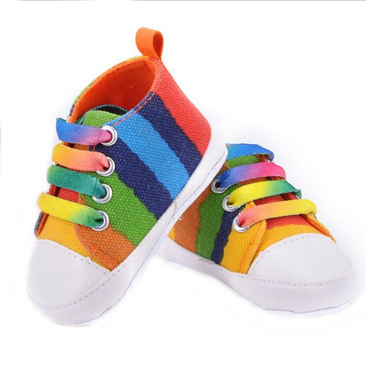 Barato Meninos Das Meninas do bebê Nova Moda Rainbow Star Sapatas de Lona…