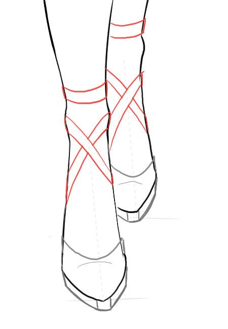how to draw shoes in fashion illustration - Google Search