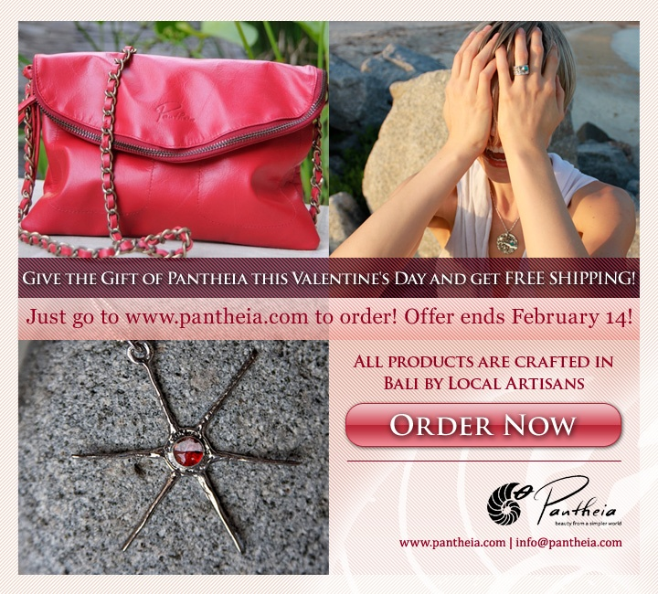 Get Free Shipping on everything Pantheia from now until Valentine's Day! www.pantheia.com