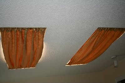 tension rod curtains for skylights