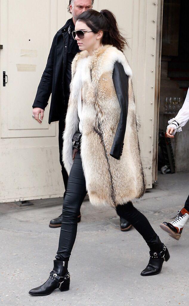 Leather Leggings and Fur-Bodywarmer