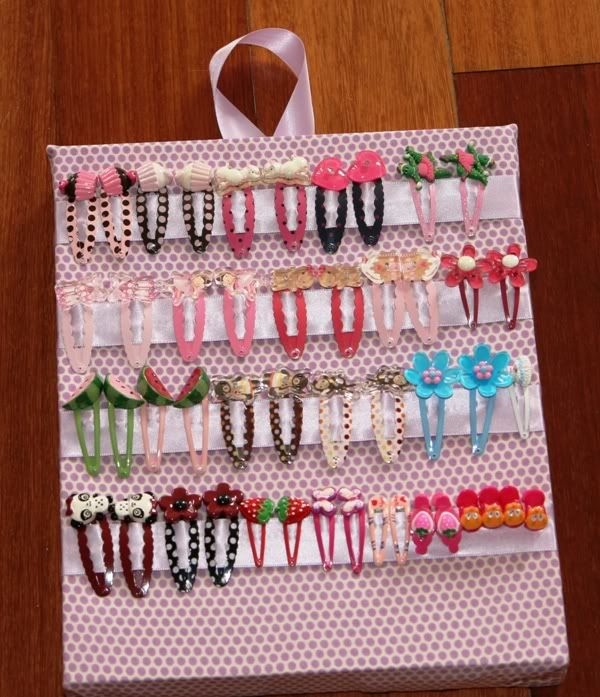 Hair Clip Holder. wish i had had this when my baby girl who is now 13 was little...