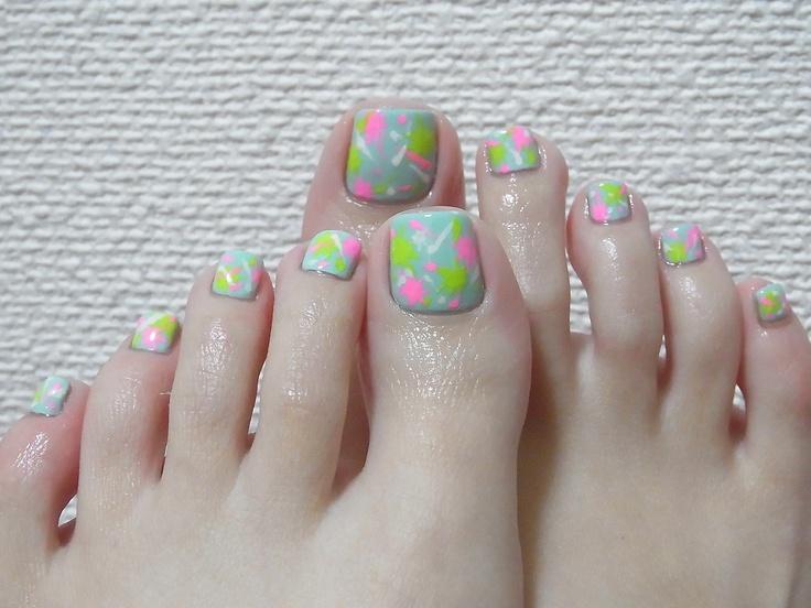 unique painted toe nails ideas