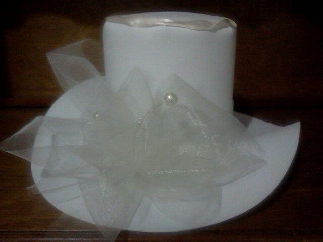 Sombrero fomi novia tul y perla | Gorros Hule Espuma | Pinterest